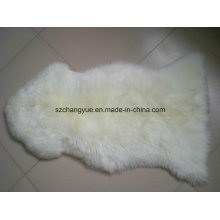 Natural Genuine Sheepskin pele real cabelos longos tapetes macios