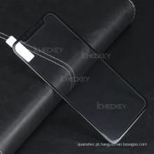 Novo Premium 3D Fibra De Carbono Cobertura Completa Curvo Protetor de Tela de Vidro Temperado para iPhone X