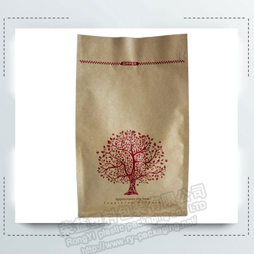 Eight Sides kraft Paper  Aluminated Zipper bag
