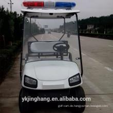 Chinesischer populärer Polizei-Golfwagen mit Frachtkasten und CER-Bescheinigung für Verkauf