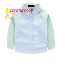preppy style boy t shirt suits kids fashion blouse for children blouse