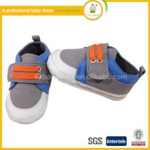 2016 Wolesale diseñador Canves zapatos de bebé zapatos hechos a mano del caminante del bebé
