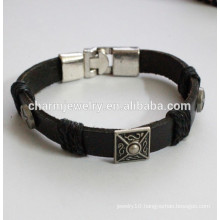 popular Leather bracelet cool color bracelet metal button bracelet PSL029
