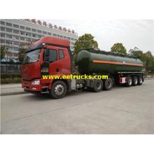 รถกึ่งพ่วงบรรทุกน้ำมันไฮดรอกไซด์ 30MT 3 Axles