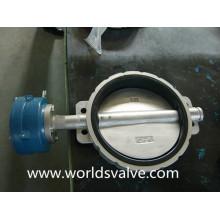 Válvula de mariposa de la oblea de acero inoxidable (D71X-10/16)