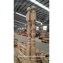 interior solid wood balustrade for indoor stair railing