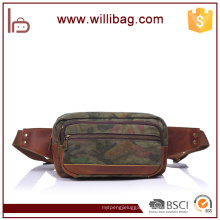 Hot Sales Retro Outdoor Sport Running Genuine Leather Waist Bag