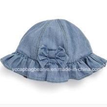 Crianças Denim Bucket Hat, Denim Sun Hat