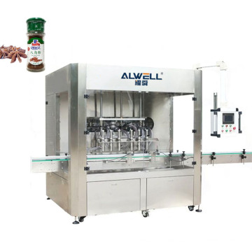 Full automatically Filling spices powder into bottles machine Auger Powder filling capping and labeling machine