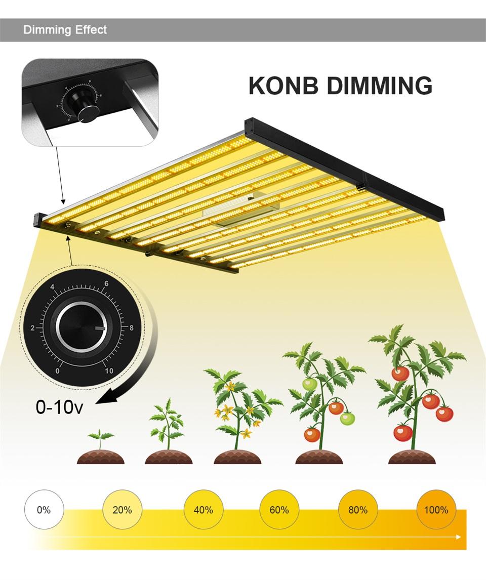 600W Folding LED Grow Light-09