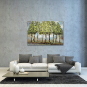Luxe Trees Wall Art Green Fresh Oil Painting