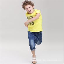 atacado moda infantil verão camiseta de algodão