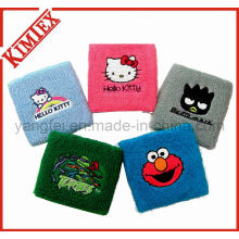 Sports Terry Embroidery Cloth Cotton Wristband