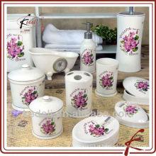 2015 China Fábrica de cerâmica porcelana Banho conjunto de acessórios de banho
