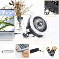 AAA Batteriebetriebener USB-Deckenventilator Camping Light