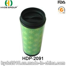 Taza de café plástica respetuosa del medio ambiente del viaje 2016 (HDP-2091)