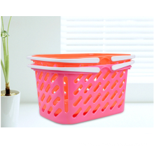 Plastic portable wholesale shopping baskets for storage