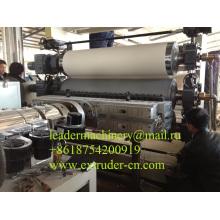 Línea de la protuberancia del tablero de la hoja del PVC para la maquinaria / 500-2000m m del extrusor de la hoja del panel de bocadillo / del PVC