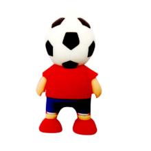 Forma de jogador de futebol PVC USB Pendrive com amostras grátis