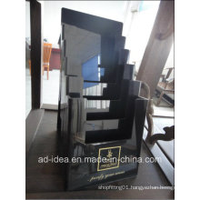 Modern Black Acrylic Exhibition Stand (AD-003)
