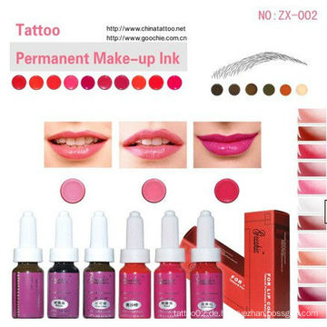 Goochie Permanent Make-up Pigment Tattoo Tinte für Lippe