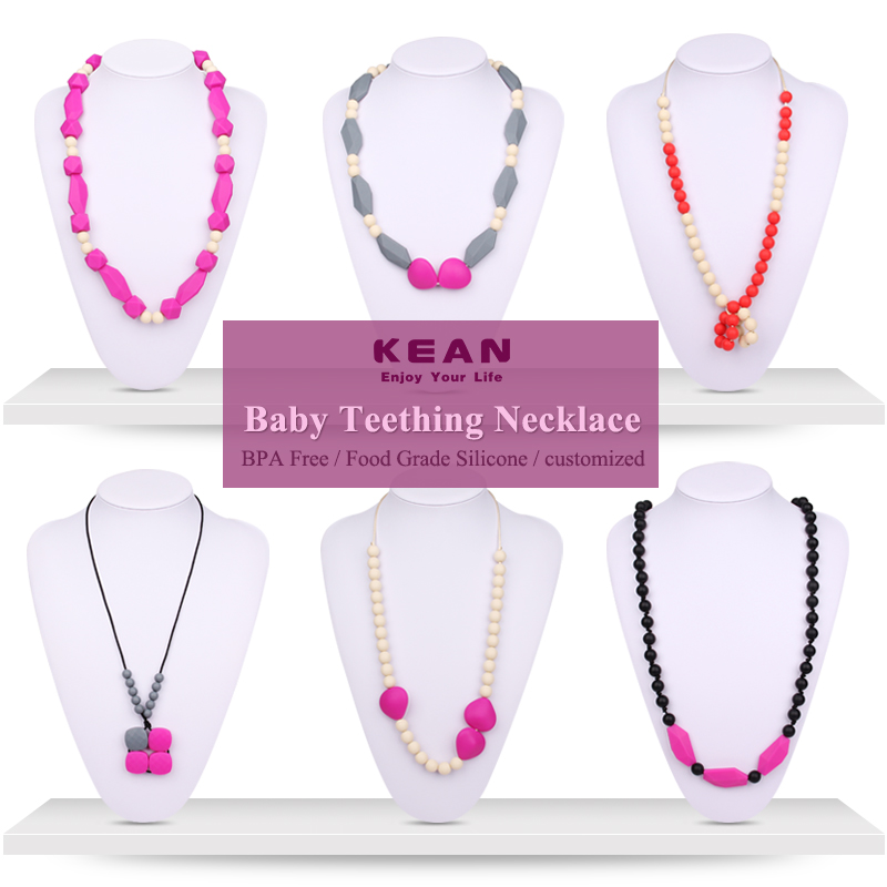 Fashion Design Baby Teething Necklace