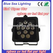 Pars levou wifi motor show luz 12pcs 18W LED sem fio par