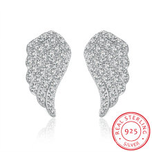 925 Sterling Silver Flying Wings Zircon Earrings