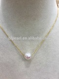 wholesale 7.5-8mm round white akoya pearls necklace