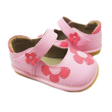 Pink Baby Squeaky Flower Shoes Girl