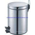 Poubelle à pédale en acier inoxydable à fermeture douce, poubelle