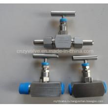 Ss, высокого давления 304 316двойный клапан для игл с игольчатыми клапанами
