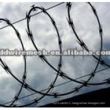 concertina coil barbed wire mesh