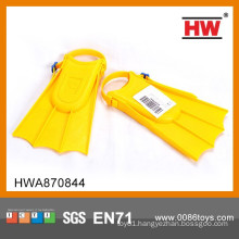 High Quality Plastic Yellow Toy Fins Kids Swimming Accessories
