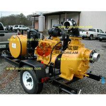 Самовсасывающий дизельный двигатель Трейлер Водяной насос