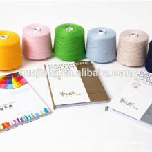 estoque de cor de produtos corantes de fios de caxemira