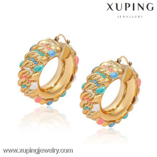 91412 Xuping Fashion Jewelry Boucles d'oreilles plaqué or 18 carats