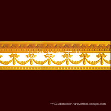 W (13+11) Cm Best Selling Golden Color Restaurant Decorative Cornice