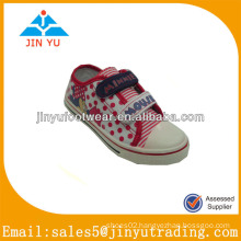 Popular white canvas shoes with new PVC sole