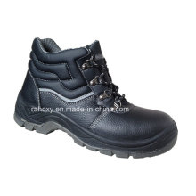 Split Embossed Leather Safety Shoes with Mesh Lining (HQ05059)