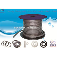 graphite packing with carbon fiber corners expanded graphite braided packing