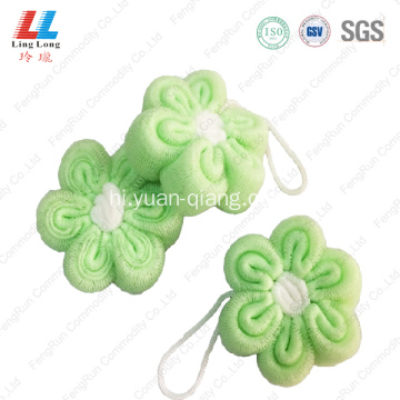 Favor luxury goodly mesh flower sponge