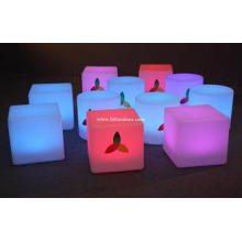 Waterproof LED ottoman cube Glow Chair with lithium battery