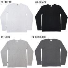 Herren 100% Baumwolle Blank Langarm T-Shirt