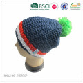Custom Acrylic Chunky Knitted Hat With Fleece Lining