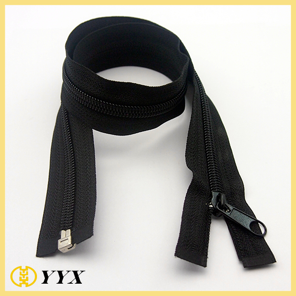 nylon zipper #5 black coil