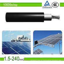 Cabo fotovoltaico de cobre estanhado PV1-F do PVC dos cabos solares do certificado de TUV