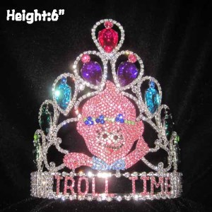 Venta al por mayor Custom Trolls Pageant Crowns