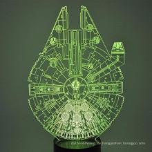 Heißer Verkauf optische Illusion 3D Leuchten LED Beleuchtung Spielzeug Nachtlicht mit 7 Farben ändern Dekor Lampe