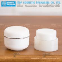 Hot-vente bon de WJ-C50 50g à la main se sentant tellement rentable finition brillante 50g ovale cosmétiques crème pp jar